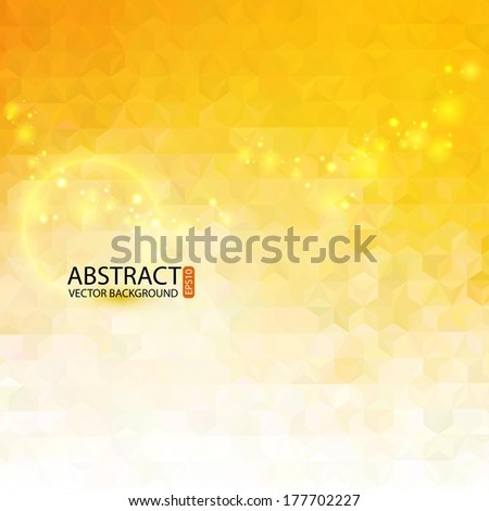 Abstract geometric background with polygons. Vector illustration for business presentation - stock vector