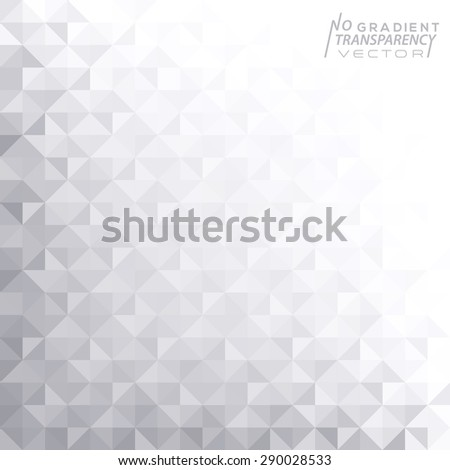 Abstract geometric background with shiny grey triangle shapes - stock vector