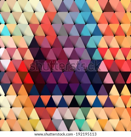 Abstract geometric background with stylish retro color tones. - stock vector