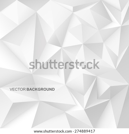 Abstract geometric background with white shapes. - stock vector