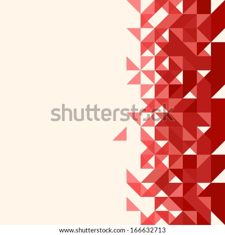 Abstract, geometric backgrounds. Red - stock vector