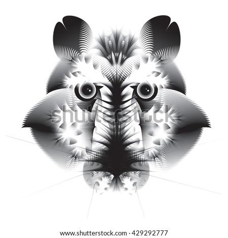Abstract geometric bear - stock vector