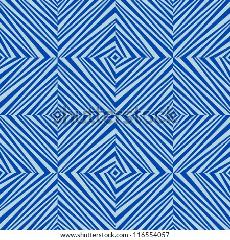 Abstract geometric blue seamless pattern. - stock vector