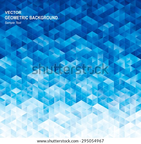 Abstract geometric blue texture background. - stock vector