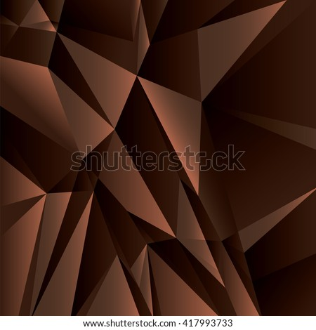 Abstract Geometric Brown Background. Vector Illustration. - stock vector