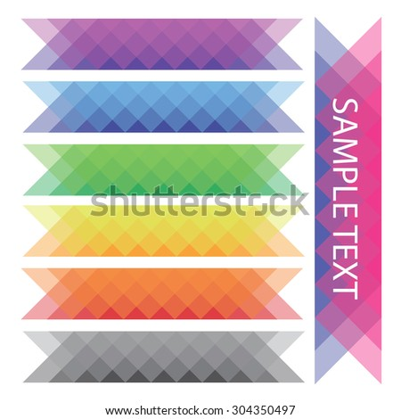 Abstract geometric colorful banners collection - stock vector
