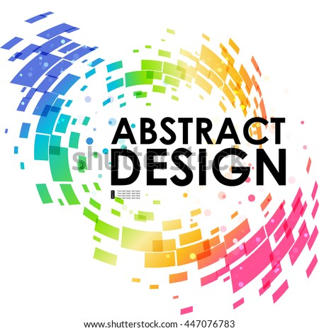 Abstract geometric colorful circular background, design element, frame background - stock vector