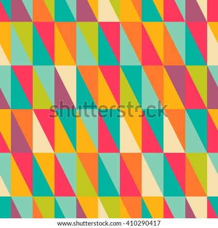 Abstract geometric colorful right triangle seamless pattern - stock vector
