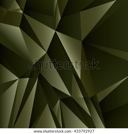 Abstract Geometric Dark Green Background. Vector Illustration. - stock vector