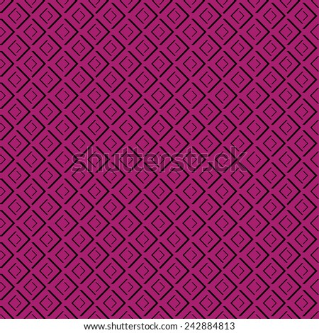 Abstract geometric diamond shape seamless pattern - stock vector