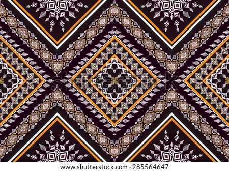 Abstract geometric  ethnic pattern design for background or wallpaper. - stock vector