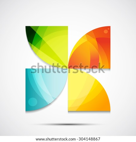 Abstract geometric icon. The illustration of universal shape concept  - stock vector