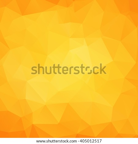 Abstract geometric juice triangle background. Vector illustration for polygonal design. Fun sumava pattern. Triangle layout wallpaper. Yellow, orange colors. Funny geometric yellow crystal texture. - stock vector
