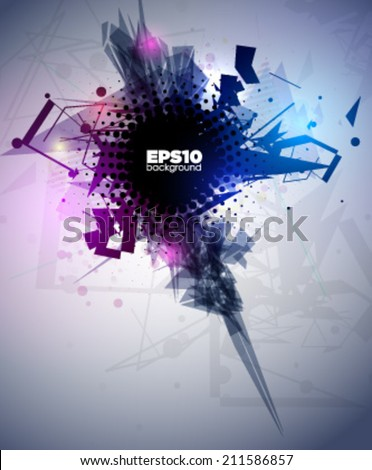 Abstract geometric lines modern grunge vector background. Vector illustration. - stock vector