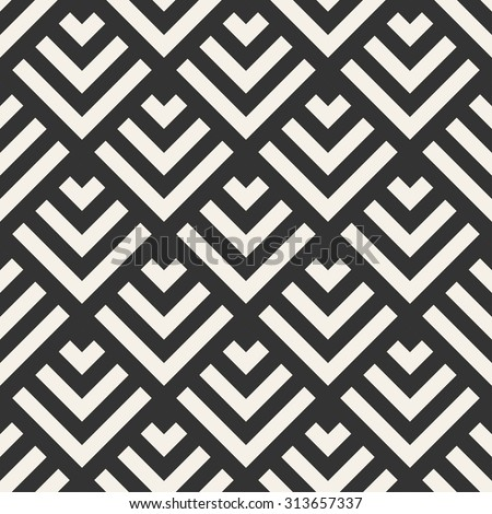 abstract geometric modern line vector seamless pattern monochrome endless texture use for wallpaper,web page,background,decoration,design,paper,fabric - stock vector