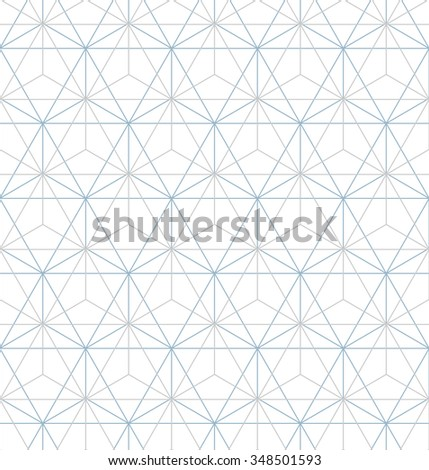 Abstract geometric pattern by lines . Seamless vector background. Gray and white texture. - stock vector