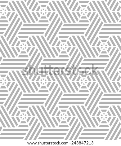Abstract geometric pattern of fringes . A seamless vector background. Gray and white texture. - stock vector
