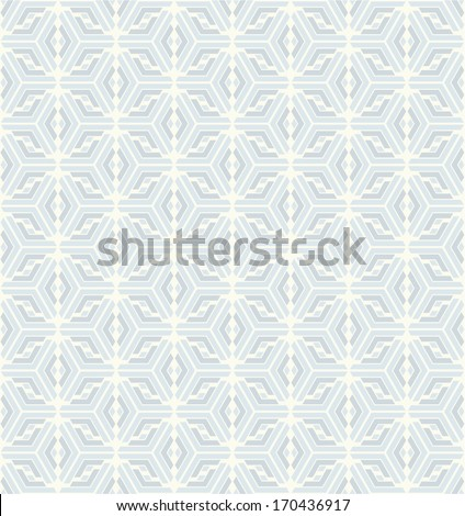 Abstract  geometric  pattern. White and blue texture. Seamless vector background. - stock vector