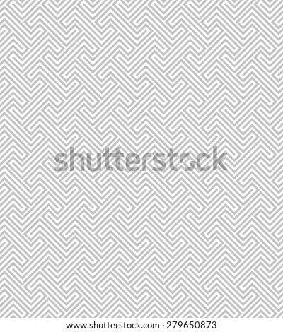 Abstract geometric pattern with lines. A seamless vector background. Gray and white texture. - stock vector