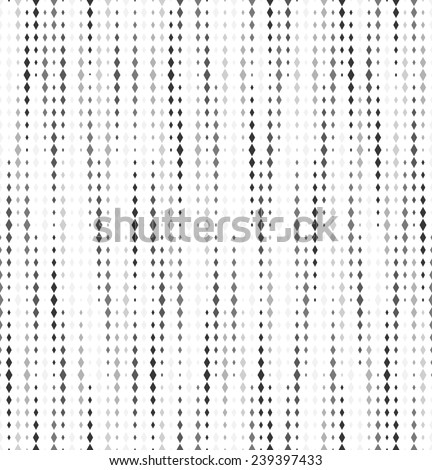 Abstract geometric pattern with rhombuses, dots. Repeating seamless background. Gray and white texture. - stock vector