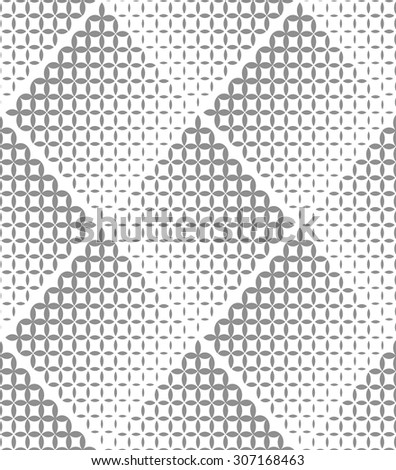 Abstract geometric pattern with rhombuses. Repeating seamless vector background. Gray and white ornament. - stock vector