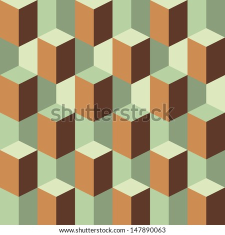 abstract geometric retro three dimension background pattern for design - stock vector