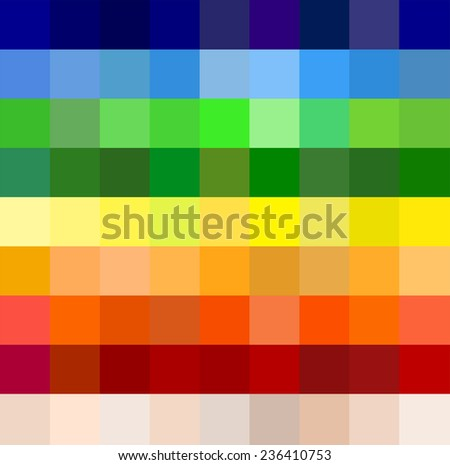 Abstract geometric seamless background template. Fun and very colorful series of square or pixel in all the colors and shades of the spectrum, from light to dark. vector art image illustration, eps10 - stock vector
