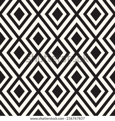 Abstract geometric seamless pattern. Black and white style pattern with triangle and lines. - stock vector
