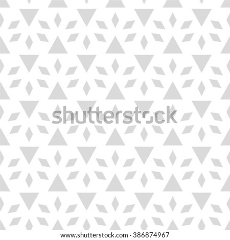 Abstract geometric seamless pattern. Gray and white style pattern. - stock vector