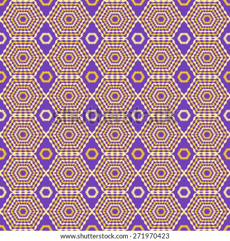 Abstract geometric seamless pattern. Purple and yellow style pattern. Endless texture for wallpaper, fill, web page background, surface texture. - stock vector