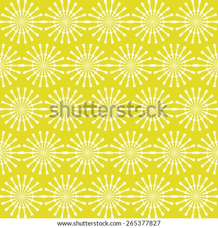 Abstract geometric seamless pattern. Yellow style pattern with circle and line. Endless texture for wallpaper, fill, web page background, surface texture. - stock vector