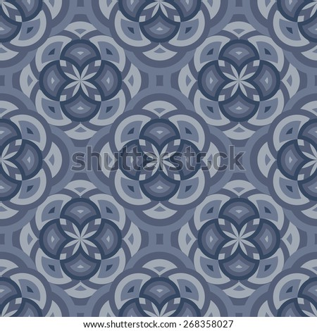 Abstract geometric seamless wallpaper pattern.Vector illustration - stock vector