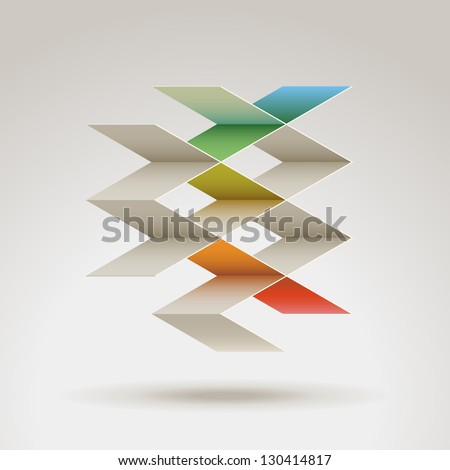Abstract geometric shape, eps10 vector - stock vector