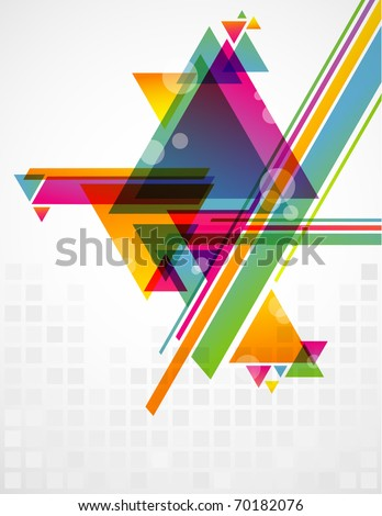Abstract geometric shapes with transparencies. AI 10. - stock vector