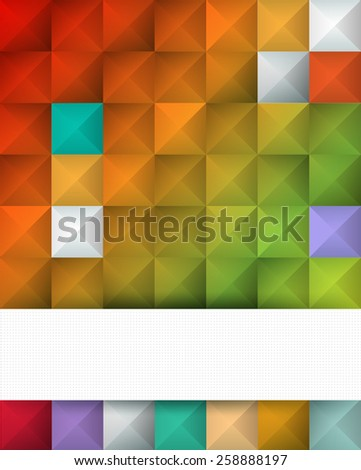 Abstract geometric square color pattern  background   - stock vector