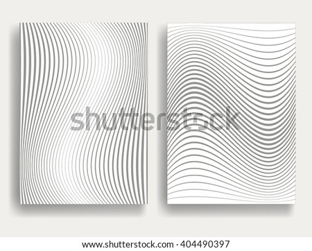 Abstract Geometric Stripe Pattern. Linear pattern in gray color. Vector. - stock vector