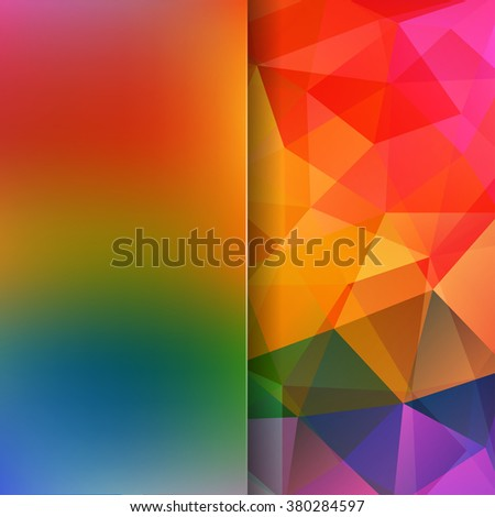 Abstract geometric style rainbow-colored background.  Colorful business background  Blur background with glass. Vector illustration - stock vector