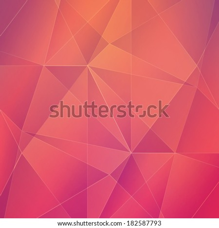 Abstract geometric vector background - stock vector
