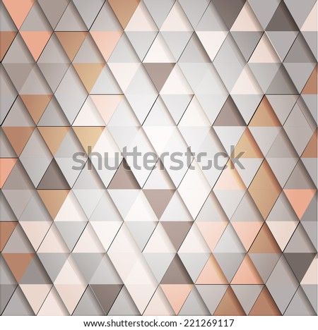 Abstract geometrical background. Triangle pattern. Vector illustration. - stock vector