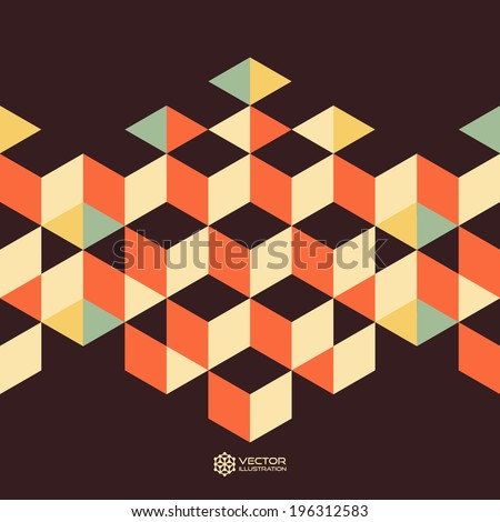 Abstract geometrical 3d background. Background for business presentation.  - stock vector