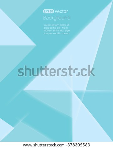 Abstract Geometrical Light Green Background - stock vector