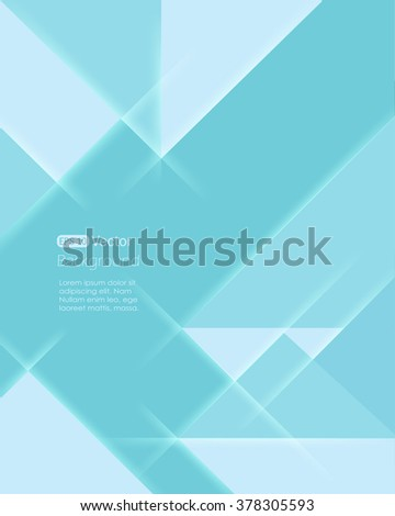 Abstract Geometrical Light Green Background with Triangle - stock vector
