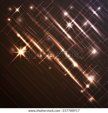 abstract geometry backgroundwith light effect  for your design - stock vector