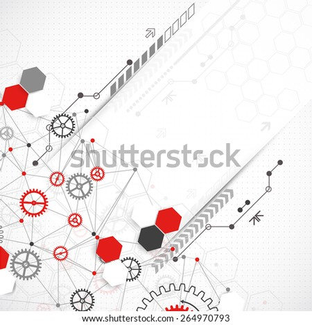 Abstract geometry technology background. Vector - stock vector