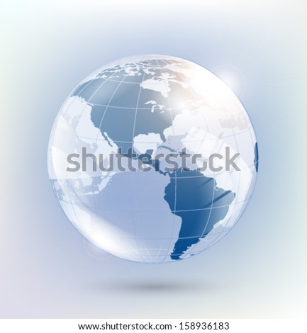 Abstract glass globe. Vector eps10. - stock vector