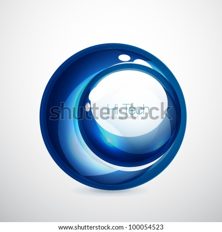 Abstract glass shapes - stock vector