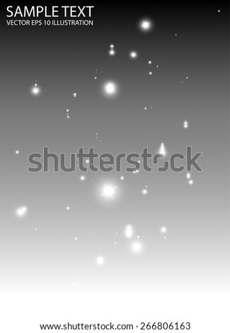 Abstract glitters falling down background vector template - Vector sparkles fall in space background illustration - stock vector
