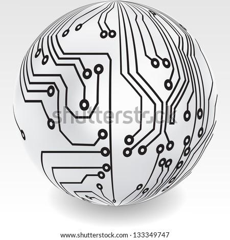 abstract globe - stock vector