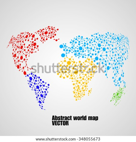 Abstract globe earth from molecule structure. Vector illustration. Eps 10 - stock vector