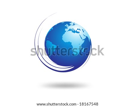 Abstract globe on white background - stock vector